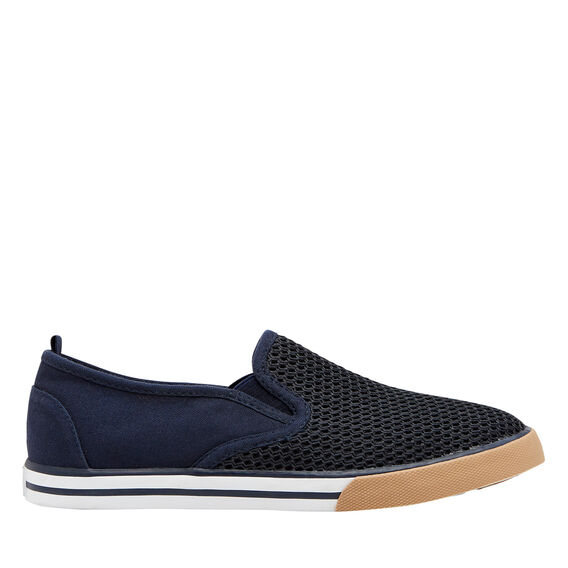 Mesh Pull On Runner  NAVY  hi-res