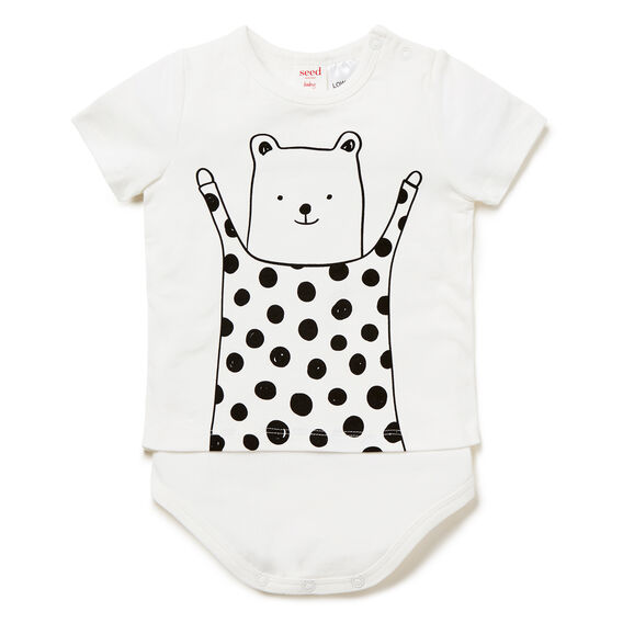 Spot Bear Bodysuit  CANVAS  hi-res