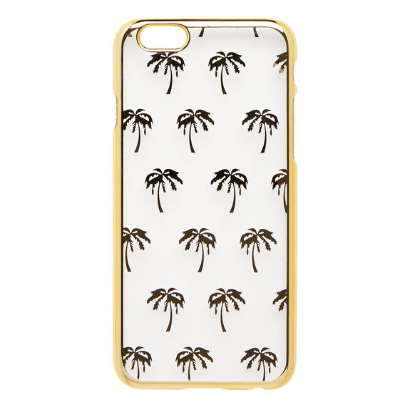 PALM PRINT CASE 6  GOLD  hi-res