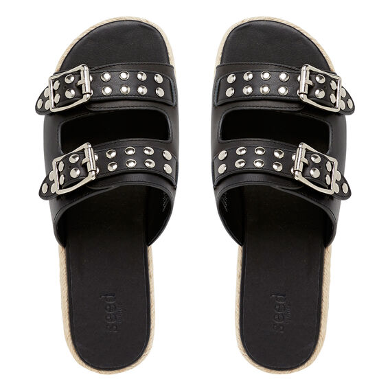 Erika Studded Slide  BLACK  hi-res