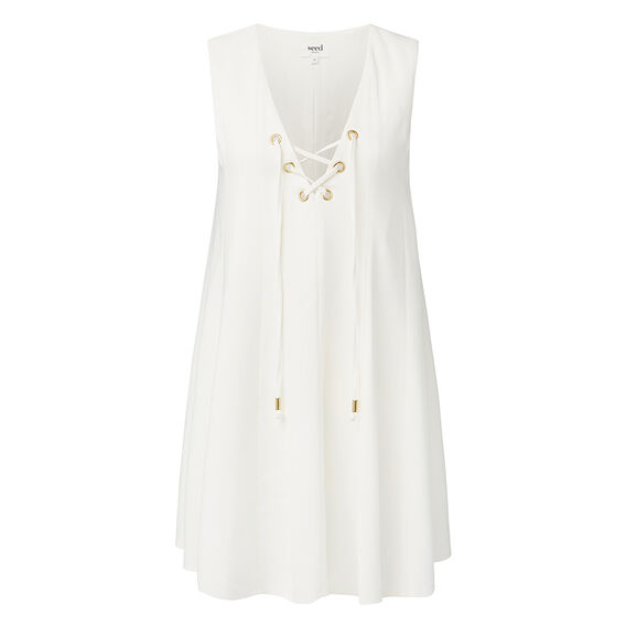 Collection Eyelet Tie Top  CREAM  hi-res