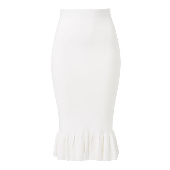 Collection Crepe Frill Midi Skirt  CREAM  hi-res