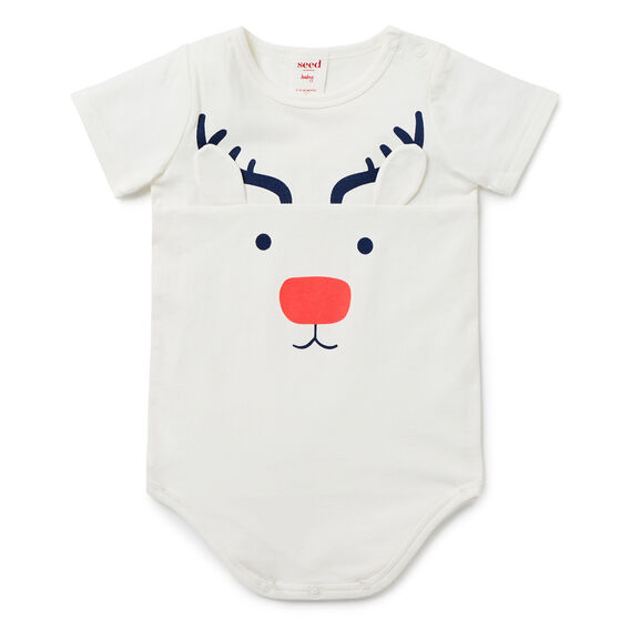 Reindeer Bodysuit  CANVAS  hi-res