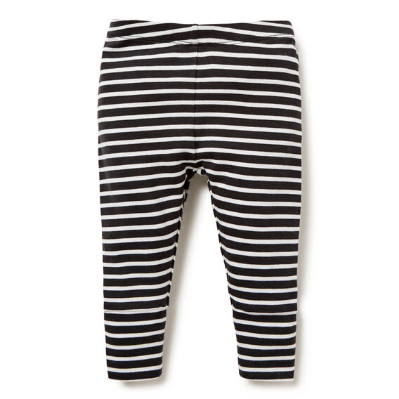 Stripe Cuffed Legging  VINTAGE BLACK  hi-res