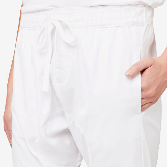 Cropped Harem Pant  WHITE  hi-res
