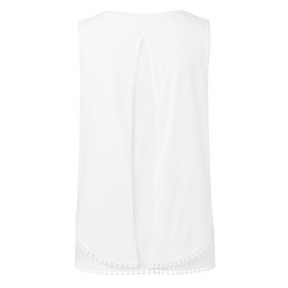 Double Tiered Tank  WHITE  hi-res
