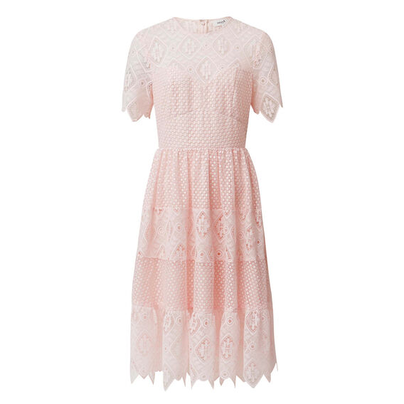Tier Lace Dress  PINK BLUSH  hi-res