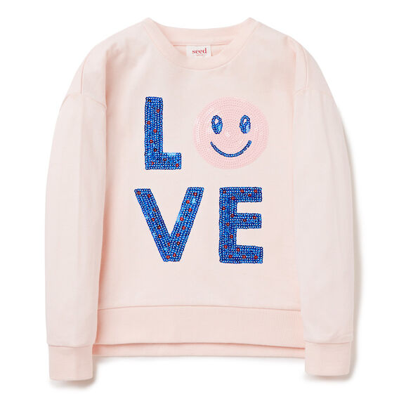 'LOVE' WINDCHEATER  SODA PINK  hi-res