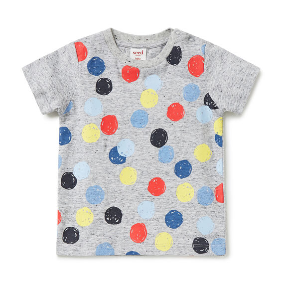 Big Spot Print  DARK GREY SPECKLE  hi-res