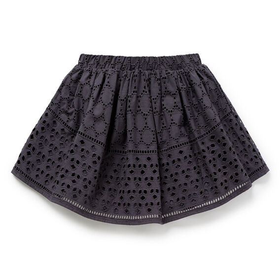 Broderie Skirt  CEMENT GREY  hi-res
