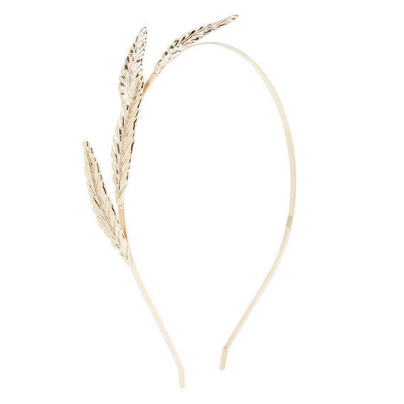 Gold Metal Feather Headband  GOLD  hi-res