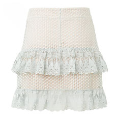 Lace Tier Skirt  DUCK EGG  hi-res