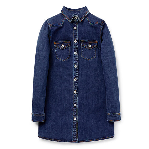 Denim Shirt Dress  DARK INDIGO  hi-res