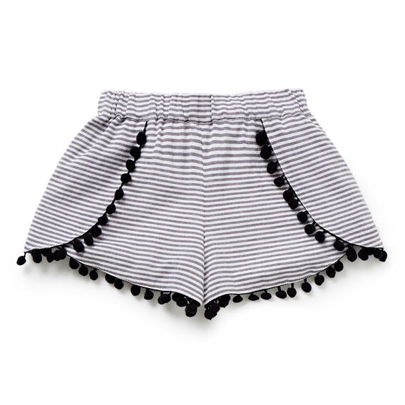 Stripe Butterfly Short  CEMENT GREY  hi-res