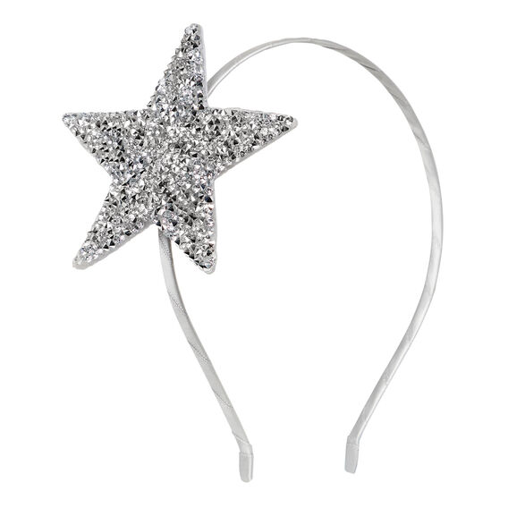 Large Star Headband  SILVER  hi-res