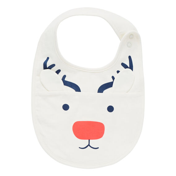 Reindeer Bib  CANVAS  hi-res