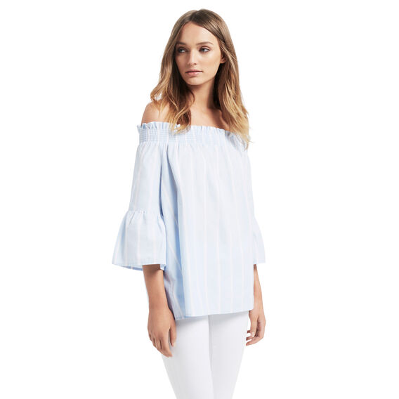 Stripe Ruffle Top  STRIPE  hi-res