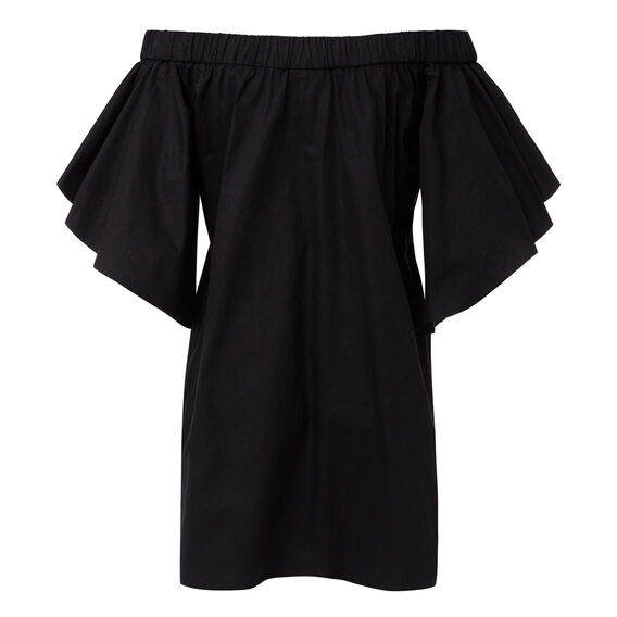 Layered Sleeve Dress  BLACK  hi-res