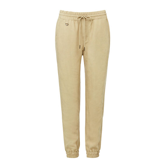 Tencel Linen Blend Jogger  LEAF GREEN  hi-res
