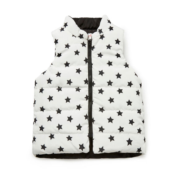 Mini Star Reversible Vest  BLACK  hi-res