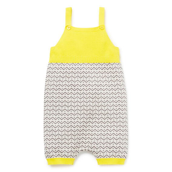 Intarsia Knit Onesie  SUNSHINE YELLOW  hi-res
