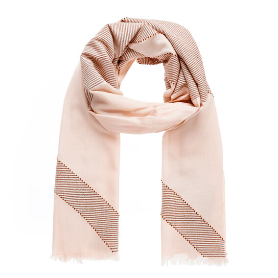 Block Weave Scarf  SHELL PINK  hi-res