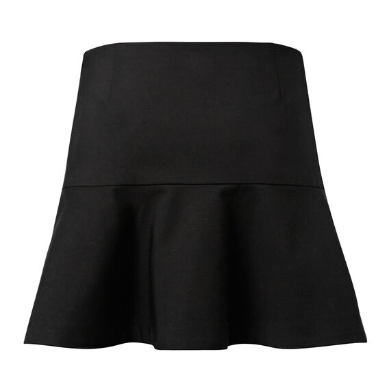 Double Frill Mini Skirt  BLACK  hi-res