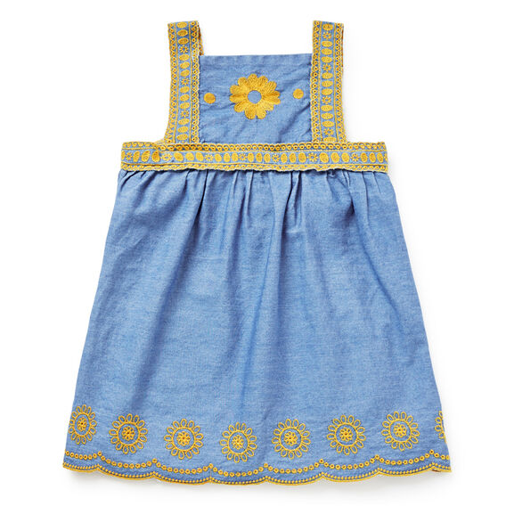 Chambray Pinafore  DANDELION  hi-res