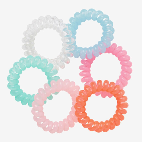 Mini Coil Hair Ties  MULTI  hi-res