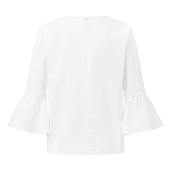 Frill Sleeve Top  WHITE  hi-res
