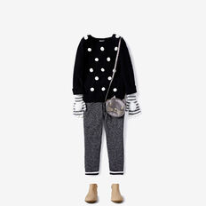 Pom Pom Sweater  BLACK  hi-res