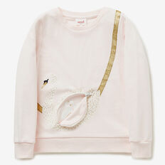 Swan Zip Bag Windcheater  SODA PINK  hi-res