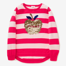 Apple Sequin Sweater  POPPY RED  hi-res