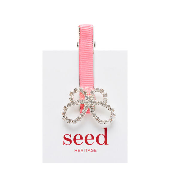 Diamond Butterfly Duck Clip  PINK  hi-res