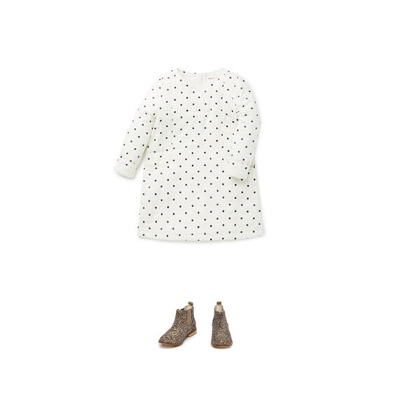 Spot Woven Dress  PEARL  hi-res