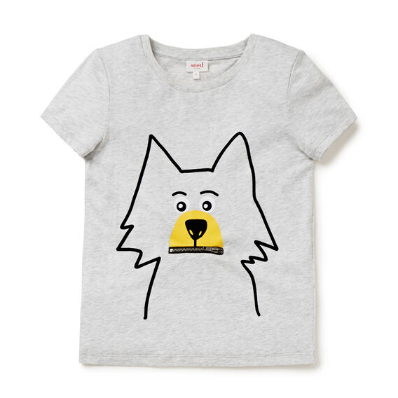 Novelty Coyote Tee  SMOKE GREY MARLE  hi-res