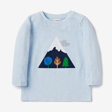 Mountain Applique Tee  PACIFIC BLUE  hi-res