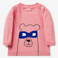 Bear Mask Tee  SUPER RED  hi-res