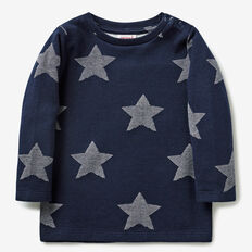 Jacquard Star Tee  MIDNIGHT BLUE  hi-res