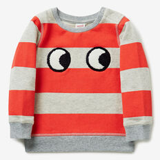 Stripe Eyes Crew Sweater  DOLPHIN MARLE  hi-res