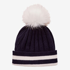 Ribbed Beanie  NAVY  hi-res
