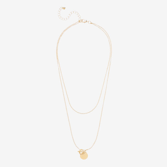 Fine Disc Necklace  GOLD  hi-res