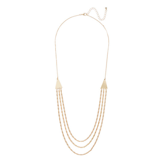 Trio Layer Necklace  GOLD  hi-res