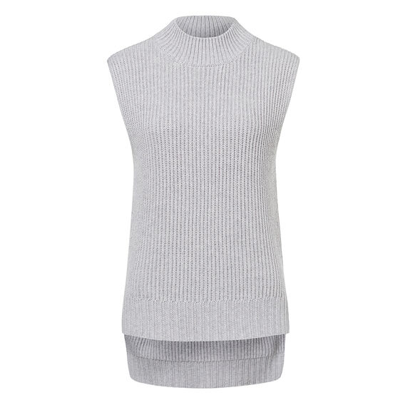 Funnel Neck Knit  GREY MARLE  hi-res