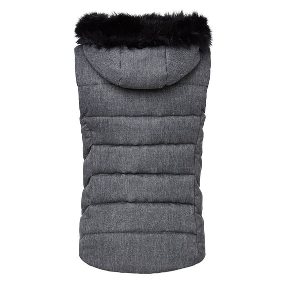Woven Knitted Puffer  MID GREY  hi-res