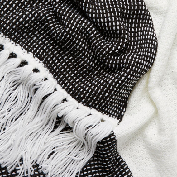 Chunky Knit Scarf  BLACK/WHITE  hi-res