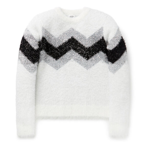 Chevron Lurex Sweater  CANVAS  hi-res