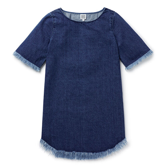 Denim Tunic Dress  INDIGO  hi-res