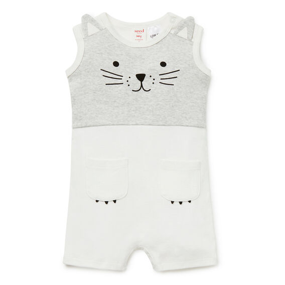 Novelty Cat Jumpsuit  CANVAS  hi-res