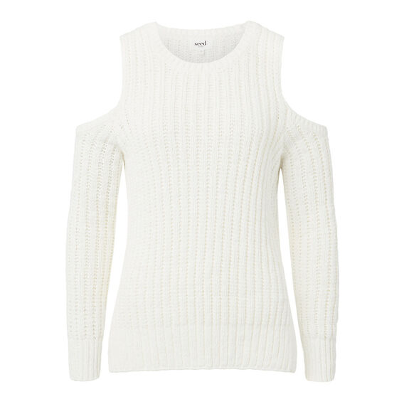 Cold Shoulder Sweater  CREAM  hi-res